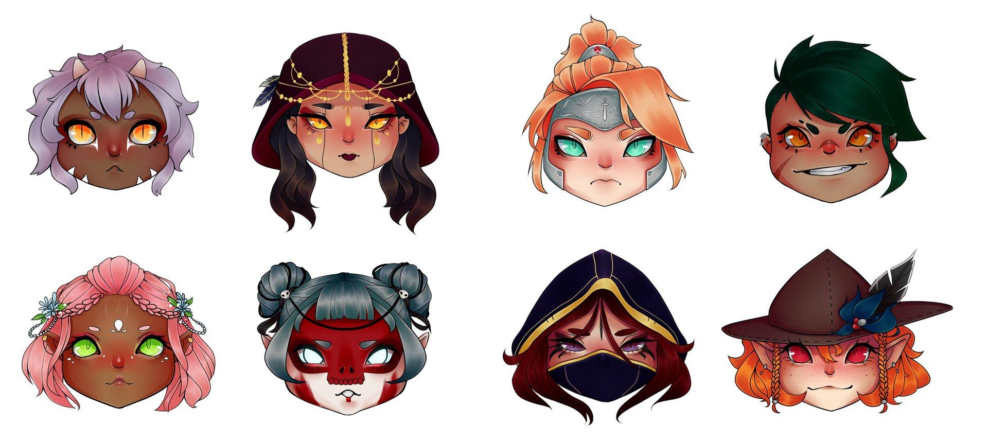 RPG Sticker Designs by Tamara - on Twine
